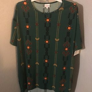 XS LuLaRoe Irma tunic, new with tags